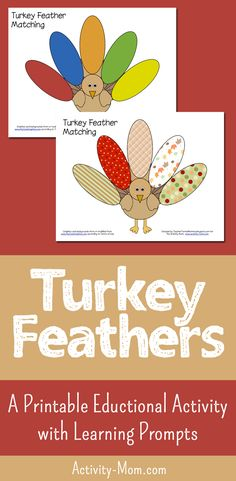 Turkey Feather Matching (free printable) Match colors, numbers, patterns, and words #kids #turkey #thanksgiving #freeprintable #matching Thanksgiving Activities For Kids, Kids Learning Activities, Holiday Activities, Craft Activities, Fun Learning, Toddler Activities, Preschool Scavenger Hunt, Train Up A Child