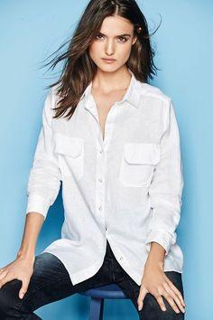 Next White Formal Linen Shirt Online   Shop The Brand Store