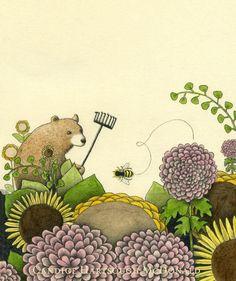 Ernst the Gardener Art Print