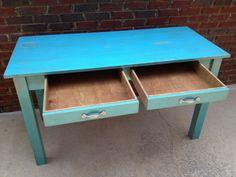 Desk Shabby Handmade Office Teacher Home Work Table shipping included
