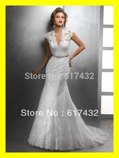 Off-White-Wedding-Dresses-Flowy-Weddings-Girls-Cute-Mermaid-Floor-Length-Court-Train-Sashes-V-Neck.jpg (540×718)