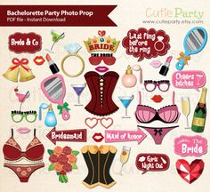 Bachelorette Party Photo Booth Prop Hen Night Photo by Cutieparty