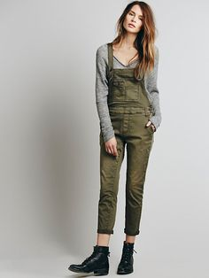 Free People Beckett Twill Overall, $98.00