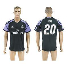 Real Madrid 16-17 #Jese 20 3 trøje Kort ærmer,208,58KR,shirtshopservice@gmail.com