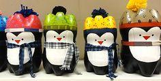 Veja como se faz um lindo pinguim utilizando garrafas pet. Além de reciclar, você poderá decorar sua casa para o Natal.