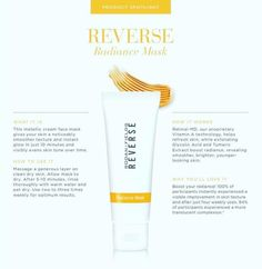 a metallic cream mask to instantly boost skin's radiance and visible even skin tone over time. Rodan And Fields Reverse, Rodan And Fields Consultant, Reverse Aging, Vitamins For Skin, Glycolic Acid, Even Skin Tone, Skin Care Regimen, Good Skin, How Are You Feeling