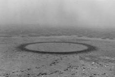 """Richard Long - """"Walking Circle in Mist"""", Scotland, 1986"""