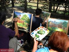 Painters at Beitou Hot Springs Museum, Taipei