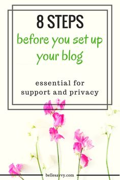Accounts you need to create to protect yourself and support your new blog | BelleSavvy Choose Your Own Adventure Blog tutorial