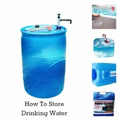 How To Store Drinking Water #survival #preppertalk