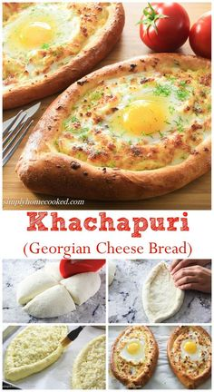 Warm yeast bread stuffed with 3 cheeses and a runny egg plopped in the center of all that cheesy goodness.