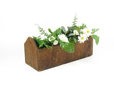 Vintage Wood Tool Tote Long Wooden Box with by BridgewoodPlace, $24.00