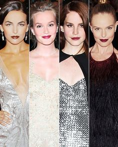 Camilla Belle, Leighton Meester, Lana Del Rey and Kate Bosworth in wine lipstick.