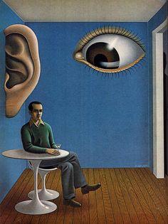 "pixography: "" Robert Giusti "" THIS IS PERFECT. Surealism Art, Psychadelic Art, Surrealism Painting, Hippie Art, Weird Art, Retro Futurism, Surreal Art, Oeuvre D'art, Collage Art"