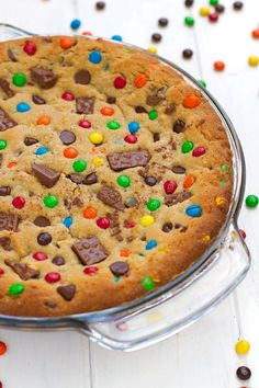 Loaded Chewy Chocolate Chip Cookie Cake