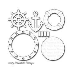 MFT Let's Get Nautical set of craft dies Anchor porthole
