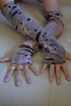 Can't wait to get mine!  Plum Zombie Arm Warmers by SecrettSerendipity on Etsy, $17.50