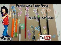 (9) Como hacer fácilmente un diseño de flores para pintacaritas (facepaint) - YouTube