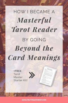 How I Became a Masterful Tarot Reader by Going Beyond Card Meanings - Learning the tarot card meanings is just the start. You can become a masterful tarot reader by going beyond individual cards and paying attention to tarot storytelling, numerology, the What Are Tarot Cards, Types Of Reading, Tarot Cards For Beginners, Tarot Card Spreads, Tarot Astrology, Astrology Chart, Free Tarot, Tarot Card Meanings, Tarot Readers