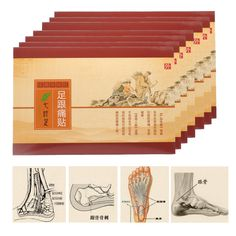 4Boxes Heel Spur Pain Relief Medical Patch Herbal Calcaneal Spur Rapid Heel Pain Relief Patch Achilles Tendinitis Foot Care Tool