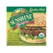 Sunshine Burger Company Organic Garden Vegetable Burger  12 per case -- ** AMAZON BEST BUY **