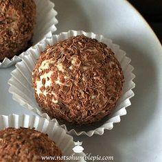 tiramisu truffles - white chocolate marscapone ganache with cocoa and chocolate shavings