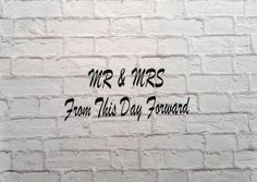 Mr & Mrs Vinyl Wall Decal by Msapple on Etsy