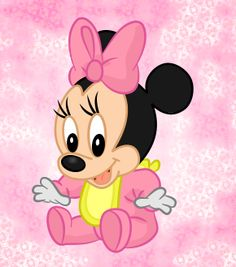 Walt disney cartoon characters pictures for free. Funny and cool disney wallpaper like tinkerbell wallpaper, disney princess wallpaper, disney mickey mouse and other attractive wallpaper Minnie Mouse Pics, Minnie Baby, Minnie Mouse Baby Shower, Mickey Mouse Cartoon, Baby Mouse, Baby Cartoon, Mickey Minnie Mouse, Disney Clipart, Character Wallpaper