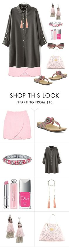 """""""Untitled #1803"""" by naviaux ❤ liked on Polyvore featuring Carven, Spring Step, 1928, Christian Dior, NAKAMOL, Bubbly Bows, Louis Vuitton and Chanel"""