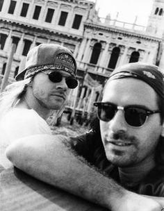 SUPER RARE!!!!! Axl Rose & Sante D'Orazio in Venice, Italy, 1993