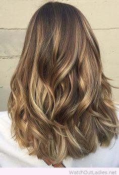 Wonderful light brunette balayage highlights