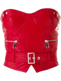 Manokhi belted bustier top - Red Click Pic for the Hottest Lingerie Online Bustiers, Stage Outfits, Fashion Outfits, Womens Fashion, Steampunk Fashion, Gothic Fashion, Fashion Clothes, Leather Belts, Red Leather