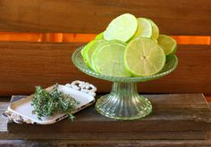 Fresh lime, thyme, vanilla and mint Mason Jar Scent Diffuser from cupcakesandcrinoline.com