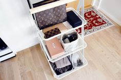 Great alternative use for kitchen/ bathroom trolleys