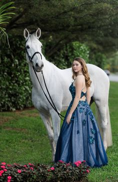 Horse and rider photographed in Grand Prix Village near the Winter Equestrian Festival in Wellington, Florida. Horse Girl Photography, Equine Photography, Photography Poses, Horse Senior Pictures, Pictures With Horses, Senior Pics, Prom Photos, Prom Pictures, Estilo Cowgirl