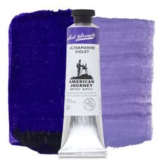 American Journey Artists' Acrylic, Ultramarine Violet is one of the bluest of the violets and may create shades of grey similar to colors found in the natural world and has a beautiful delicate glaze. Available in a 60 ml. tube. #ArtSupplies #AcrylicPainting #Acrylic