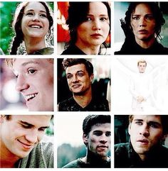 They all smiled at first in the hunger games, but slowly they began to change... peeta stopped smiling last.. *chokes on tears*