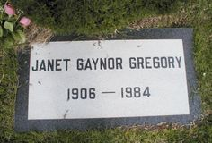 """Janet Gaynor - Starred in the 1937 version of the movie """"A Star Is Born"""", won the first ever Best Actress Oscar in she died from the long-term effects of a car crash in which she was involved"""