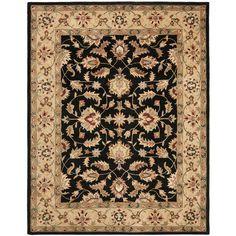 Handmade Heritage Kerman Black/ Gold Wool Rug (9' x 12')   Overstock.com Shopping - The Best Deals on 7x9 - 10x14 Rugs