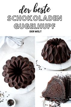 Der beste Schokokuchen der Welt The best, easiest chocolate ring cake in the world. Homemade Desserts, Easy Desserts, Dessert Recipes, Cake Recipes, Summer Desserts, Healthy Desserts, Pasta Recipes, Salad Recipes, Dessert Simple
