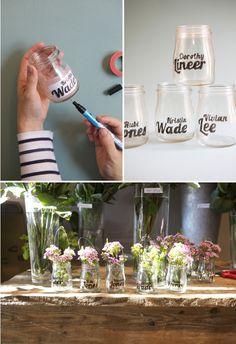 diy escort or wedding favor jars