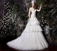 Cheap Ball Gown - Discount Best Selling Romantic Ball Gown Puffy V Neck Online with $153.81/Piece | DHgate