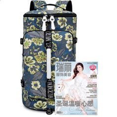 यात्रा बैग महिलाओं 2018 सामान डफल बैग निविड़ अंधकार कैनवास मुद्रण बैकपैक पैकिंग cubes कैनवास बैग सामान सप्ताहांत बैग के लिए