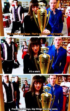 WHAT!! SHE WAS REFERENCING HER FIRST SECTIONALS WIN AND MR SHUE!!
