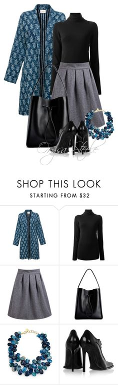 """""""Teal Coat"""" by orysa ❤ liked on Polyvore featuring EAST, The Row, 3.1 Phillip Lim, Nest and Haider Ackermann"""