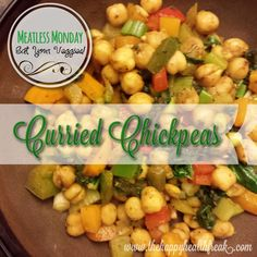 Curried Chickpeas ~ Meatless Monday