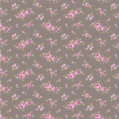 FAT de tissu patchwork Tilda petites roses sur fond taupe 45x55cm