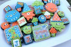 Little Monster Cookies~          No source, Orange, blue, green, number