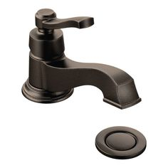 Rothbury oil rubbed bronze one-handle low arc bathroom faucet - S6202ORB
