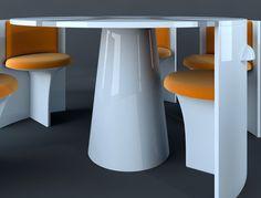LOC, Dining group by Vladimir Tomilov, via Behance